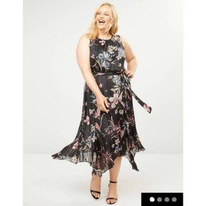 Lane Bryant Floral Fit & Flare Midi Dress
